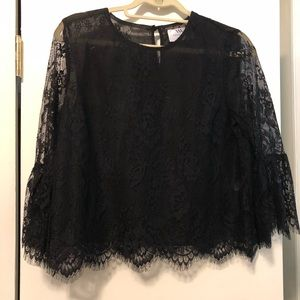 Virginia Wolf Black Lace Top